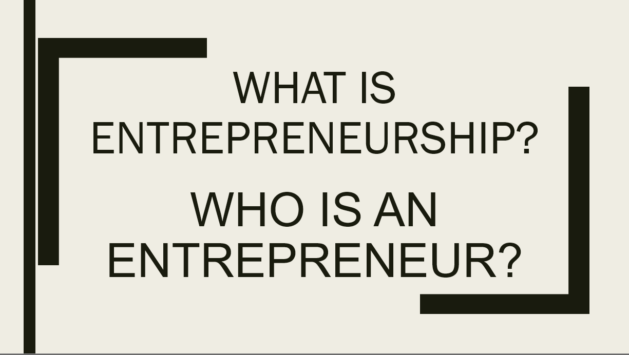 Introductions and Entrepreneurship
