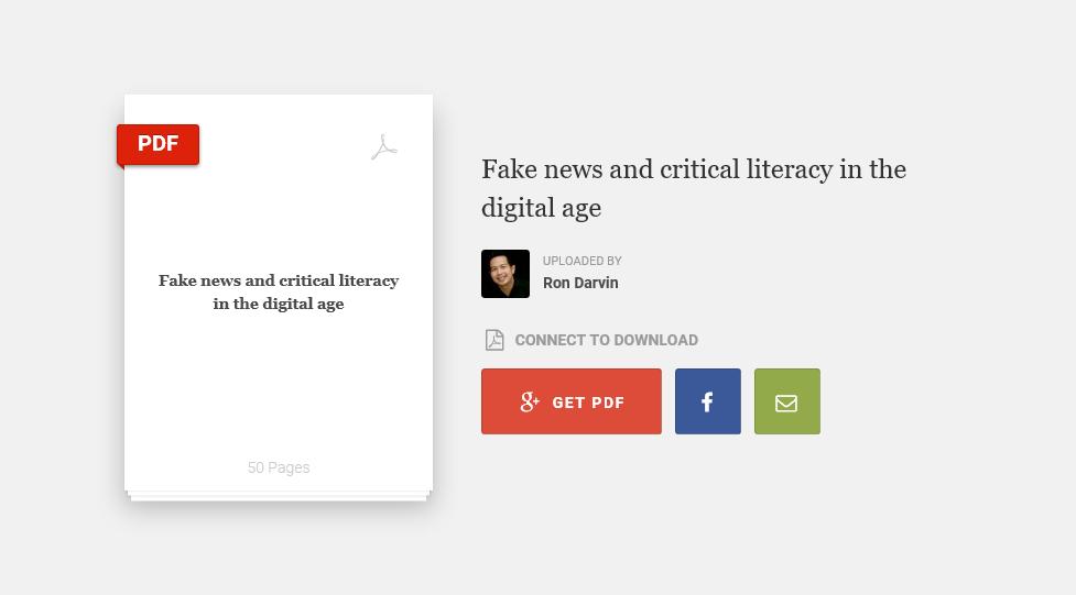 Fake News And Critical Digital Literacy