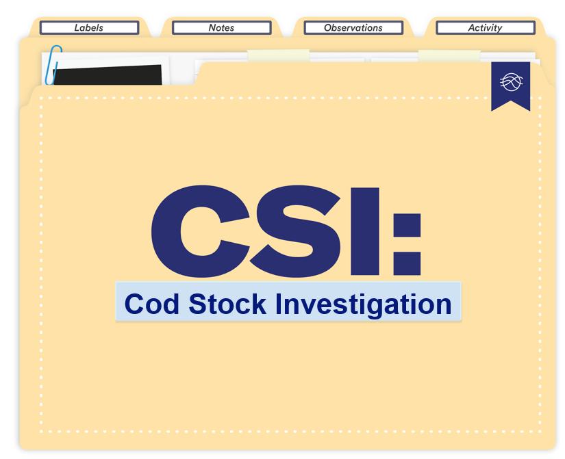Fish (cod) labeling activity