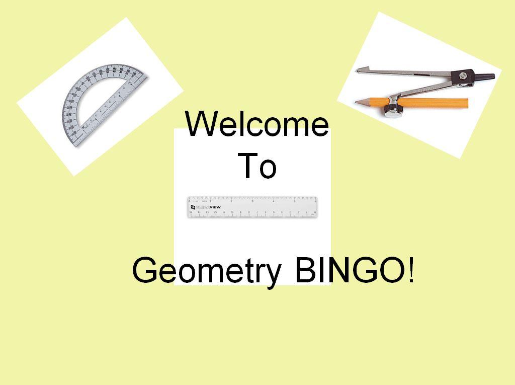Geometry terms bingo