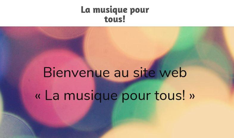 La musique pour tous!
